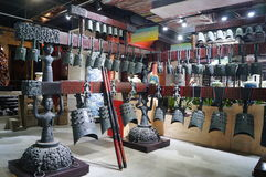 Shenzhen, China: bells ancient musical instruments of the Warring States Period Stock Image