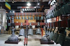 Shenzhen, China: bells ancient musical instruments of the Warring States Period Stock Photography
