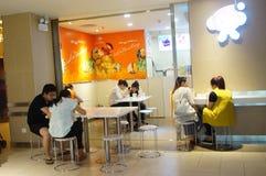 Shenzhen, China: beverage and food shops Stock Photos
