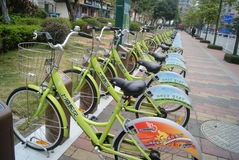 Shenzhen, China: bicycle Stock Photo
