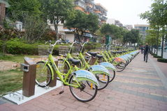 Shenzhen, China: bicycle Royalty Free Stock Photography