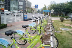 Shenzhen, China: bicycle Stock Images
