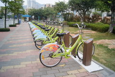 Shenzhen, China: bicycle Stock Image