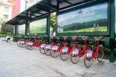 Shenzhen china: bike rental Stock Image