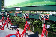 Shenzhen china: bike rental Royalty Free Stock Photo