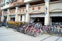 Shenzhen china: bike rental Stock Images