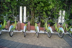 Shenzhen, China: bike rental Stock Image
