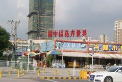 Shenzhen, China: Bloem het winkelen plein Stock Afbeeldingen