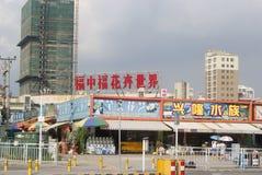 Shenzhen, China: Bloem het winkelen plein Stock Foto's