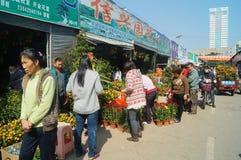 Shenzhen, China: Bloemmarkt Royalty-vrije Stock Afbeelding