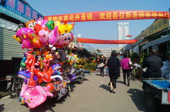 Shenzhen, China: Bloemmarkt Stock Foto's