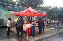 Shenzhen, China: blood donation activity Royalty Free Stock Photo