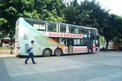 Shenzhen, China: blood donation vehicle Stock Images