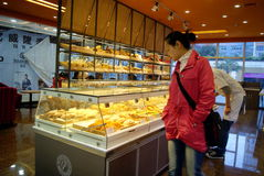 Shenzhen china: bread cake shop Royalty Free Stock Photos