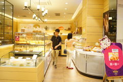 Shenzhen, China: bread and cake shop Royalty Free Stock Images