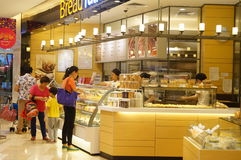 Shenzhen, China: bread and cake shop Stock Images
