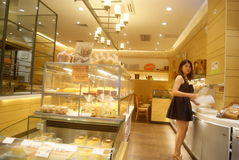 Shenzhen, China: bread and cake shop Royalty Free Stock Photos