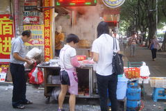 Shenzhen, China: breakfast snack bar Stock Photo