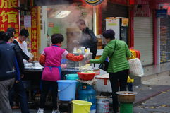 Shenzhen, China: breakfast stalls Royalty Free Stock Photos