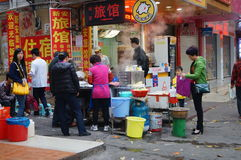 Shenzhen, China: breakfast stalls Royalty Free Stock Image
