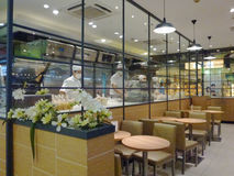 Shenzhen, China: brood en cakewinkel Stock Afbeelding