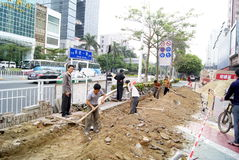 Shenzhen china: build roads Royalty Free Stock Images