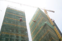 Shenzhen, China: building construction site Stock Photos