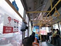 Shenzhen, China: BUS has free WiFi coverage Royalty Free Stock Photos