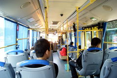 Shenzhen, china: bus ride Royalty Free Stock Images