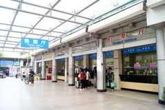 Shenzhen china: bus stop the ticket office Royalty Free Stock Image