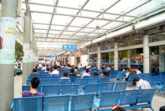 Shenzhen china:  bus stop waiting hall Stock Photo