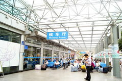 Shenzhen china:  bus stop waiting hall Royalty Free Stock Image
