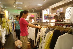 Shenzhen, China: buy clothing Royalty Free Stock Image