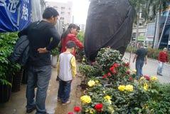 Shenzhen, China: buy flowers miniascape Stock Image