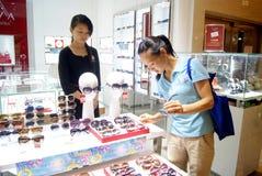 Shenzhen china: buy glasses Stock Photos