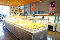 Shenzhen, China: cake bread shop Royalty Free Stock Photo