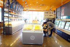Shenzhen, China: cake bread shop Royalty Free Stock Photos