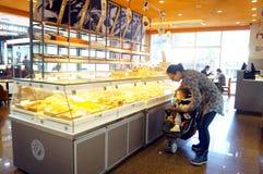 Shenzhen, China: cake bread shop Royalty Free Stock Photography