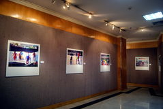 Shenzhen, china: calligraphy and photography exhibition Stock Photos