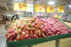Shenzhen, China: Carrefour Supermarket Stock Photo