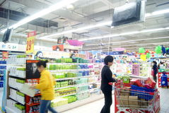 Shenzhen, china: carrefour supermarket Stock Photos