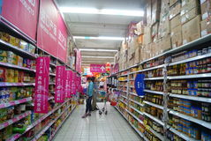 Shenzhen, china: carrefour supermarket Royalty Free Stock Photos