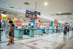 Shenzhen china: carrefour supermarket Royalty Free Stock Photos