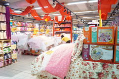 Shenzhen, China: Carrefour supermarket Stock Photography