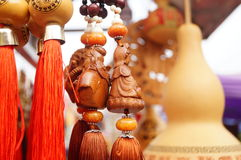 Shenzhen, China: carving crafts sales Stock Photos