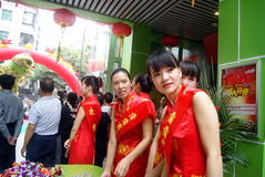 Shenzhen, china: celebration of miss etiquette Stock Image