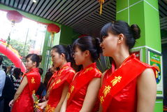 Shenzhen, china: celebration of miss etiquette Royalty Free Stock Photography