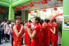 Shenzhen, china: celebration of miss etiquette Royalty Free Stock Image