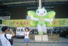 Shenzhen, China: Charity Project Exchange mascot landscape Royalty Free Stock Image