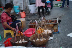 Shenzhen, China: Chicken stalls Stock Photo